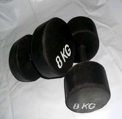 8 kgs dumbbells set image 2