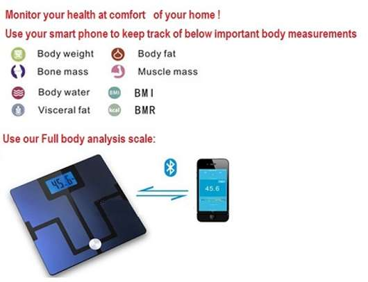 Bluetooth Full Body Analysis Scale