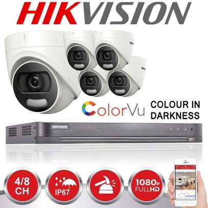 4 CCTV Camera ColourVu Kit 2MP-Metallic(Coloured At Night) image 1