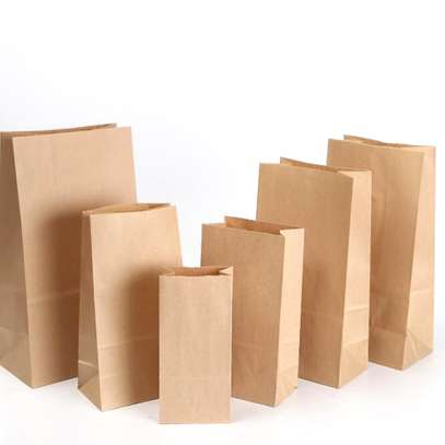 Brown Paper Khaki Bags for Packing & Storage image 2