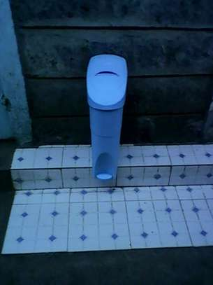 We sell Sanitary Bins and the disinfectant granule products for disinfecting bins