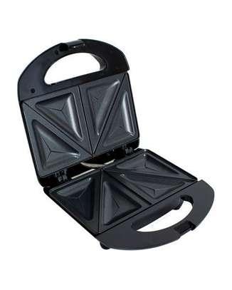 Bruhm BSM-D102 Sandwich maker,Single Fixed Sandwich Plate,Cool Touch Handle,Non-Stick Coating Plates image 2