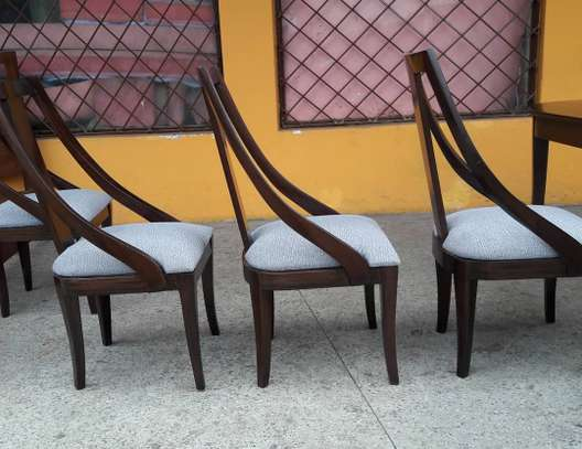 6-seater wooden dining set image 3