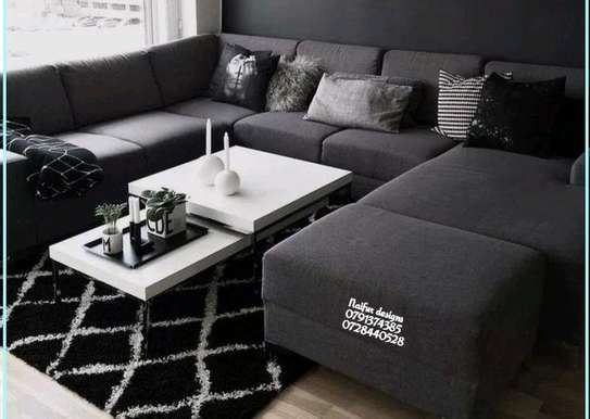 Sectional couch/modern sofas/L shaped sofas image 1