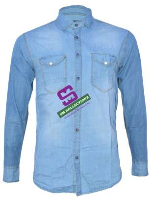 Sky Blue Classic Non-Fade Slim Fit Denim