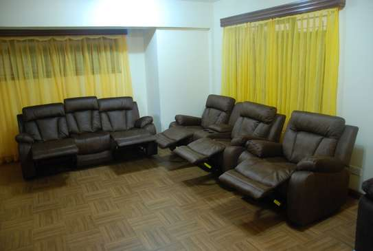 Awesome Brown 6 Seater With Console image 2