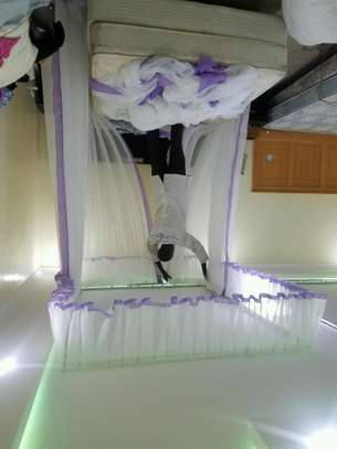 Rail Shears Mosquito Nets Sliding Like Curtains Fixed On The Ceiling image 12