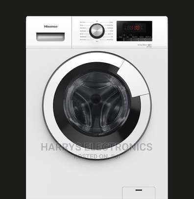 Hisense 9kg Front Load Washer Fully Automatic WFHV9014T image 1