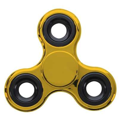 Tri-Spinner Fidget Toy EDC Hand Spinner - Gold