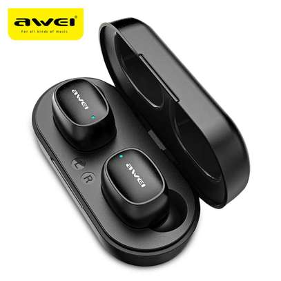 Awei T13 Dual TWS Bluetooth 5.0 Noise Cancelling Earphones ,Mic image 2