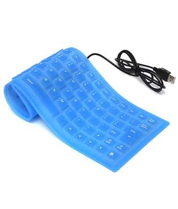 Foldable USB Flexible Silicone Keyboard image 1