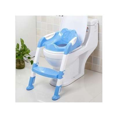 Generic NEW strong portable step ladder potty Seat (2-7 years)- Blue