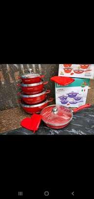 Dessini coloured granite cookware set image 3
