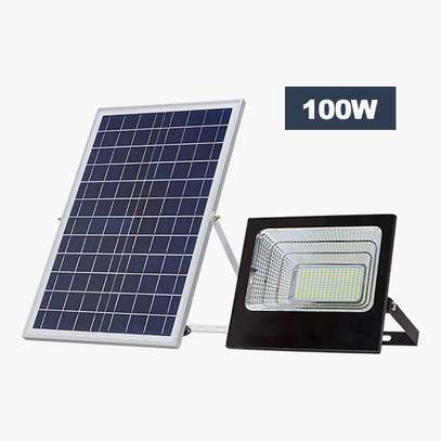 100W Solar Outdoor Security LED Floodlight Lamp image 1