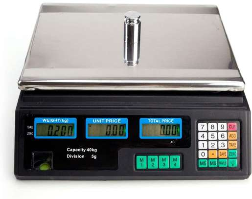 40kg electronic pricing scale Rechargeable Digital electronic platform scale electronic scale electronic kitchen scale image 1
