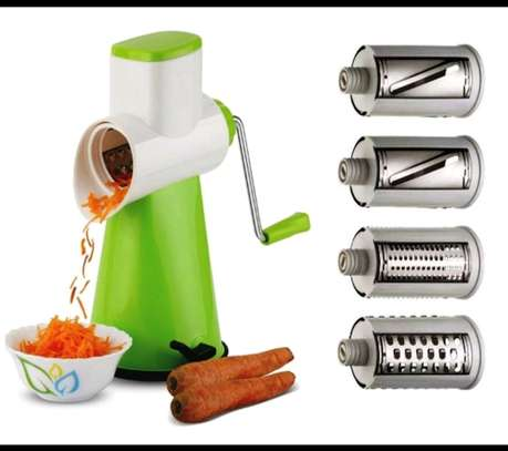 Rotary grater/vegetable slicer/5 in 1 rotary drum image 1