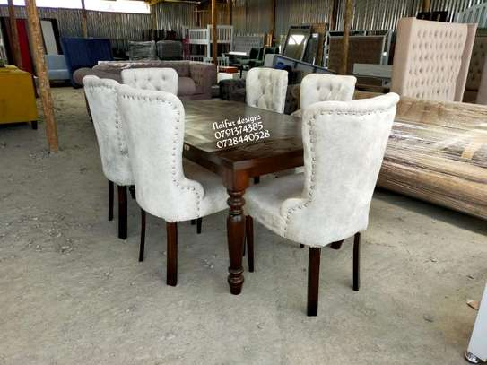 Modern dning set/Dining tables/ si lx seater dining chairs image 2