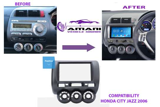 Double Din Car Radio Fascia for 2006 Honda Jazz Manual AC (RHD) Auto Stereo Radio Installation DVD Panel CD Trim Frame image 1