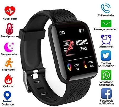 116 Plus Smart Watch Wristband Sports Fitness Blood Pressure Heart Rate Call Message Reminder Android Pedometer D13 Smart Watch image 1