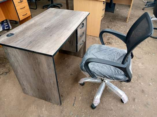 American Walnut office desk and a chair image 3