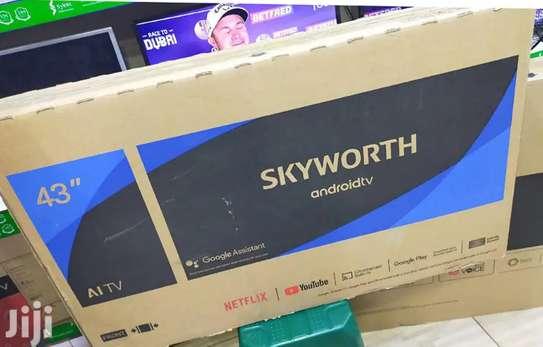 Skyworth 32TB7000 32 Frameless Smart Android LED TV – Black image 1