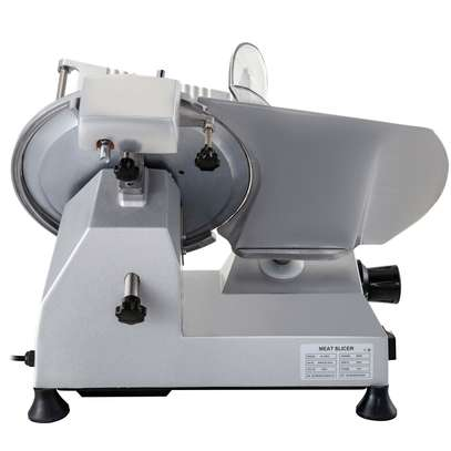 """Food and Meat Slicer 10"""" Blade Big Sliced Meat Exit Behind the Machine for Slice Meat Sliding Out Quickly image 4"""