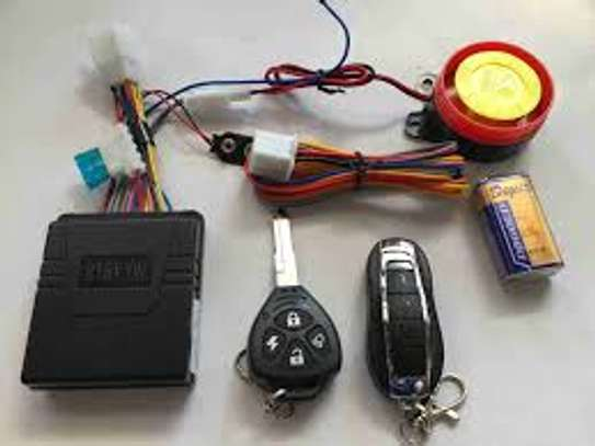 Motorcycle Alarm System with remote control & Engine start. image 1