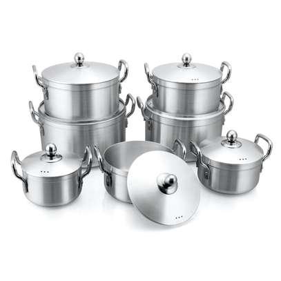 14 Pcs Aluminum Cookware set image 1