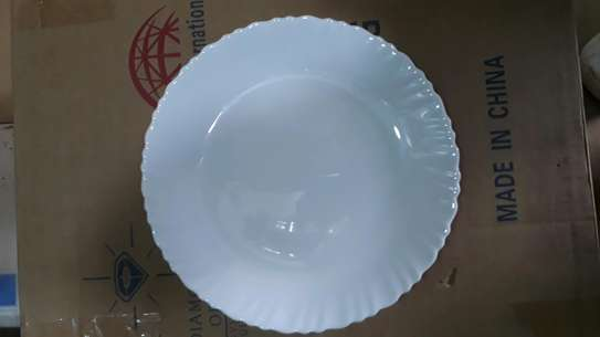 6pc square dinner plate/Round dinner plate/Glass plate/Flowered plates image 11