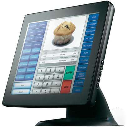 Fanless pos 15 touch screen monitor point of sale system pure screen restaurant image 1
