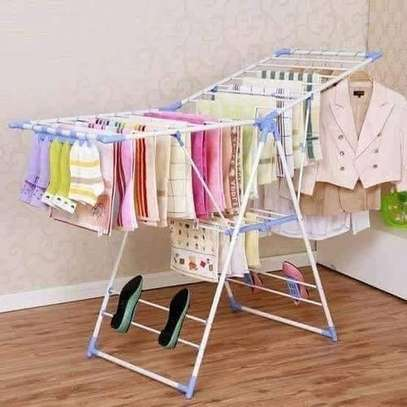 Portable foldable cloth drying rack cloth line for outdoor indoor use image 2