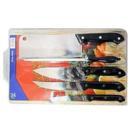 Set of kitchen knives with free chopping boards image 1
