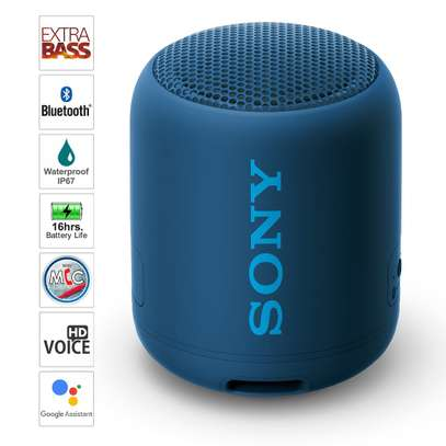 Sony SRS-XB12 Mini Bluetooth Speaker Loud Extra Bass Portable Wireless Speaker with Bluetooth -Loud Audio for Phone Calls- Small Waterproof and Dustproof Travel Music Speakers Black image 1