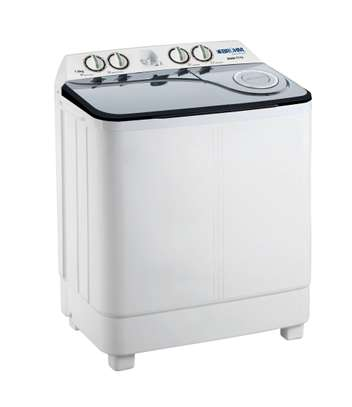 Bruhm 7kg twin tub semi automatic washing machine wash and spin image 1