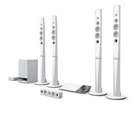 Sony 1200W BDV-N9200W 5.1-Ch 3D Blue-Ray Home Theatre System - White image 1