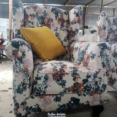 One seater sofa/king size chair/floral chairs/modern single seater sofas image 1