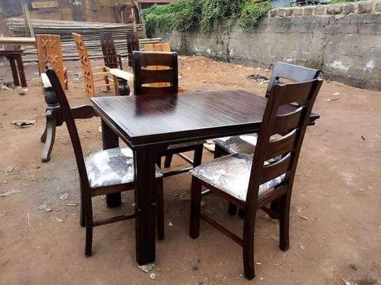 4 seater mahogany-made dining sets image 4
