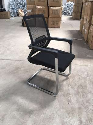 Visitor mesh seat,padded arms