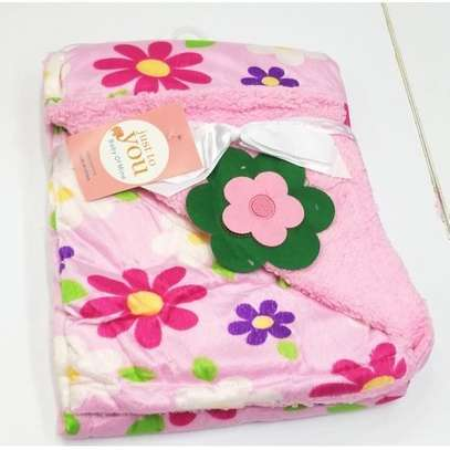 Just To You Super Soft Baby Double Layer Receiving Blanket / Shawl - Pink image 2