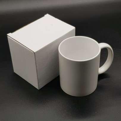 plain white sublimation mug image 1