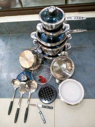 25pcs heavy stainless steel cookware set image 1