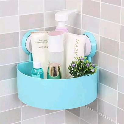 Corner bathroom room shelve, available in pink, blue, white and green image 1