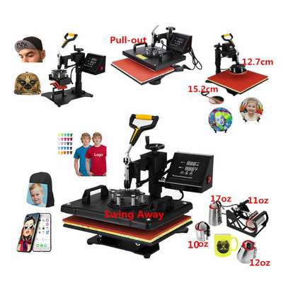 8 in 1 Multi-function Heat Press Machine Transfer DIY Printing T-Shirt Mug Hat image 1