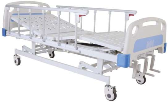 3 crank manual hospital bed image 1