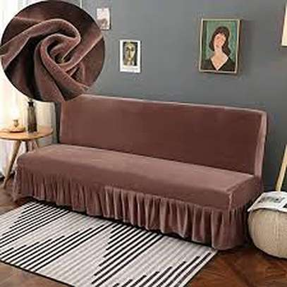 Five Seaters Brown Sofa Covers image 1