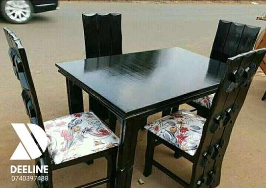 5 Piece Mahogany Framed Dining Table Sets. image 2