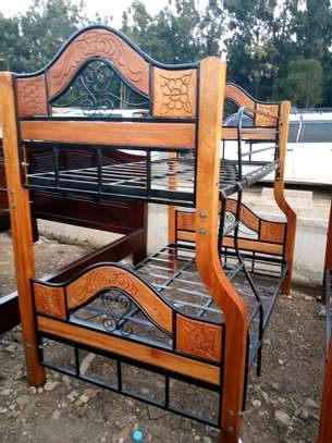 Mix wooden and metallic double decker beds image 3