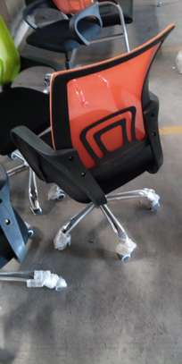 Orange staff  chair image 1