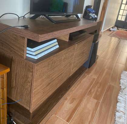 Brown TV stand image 2