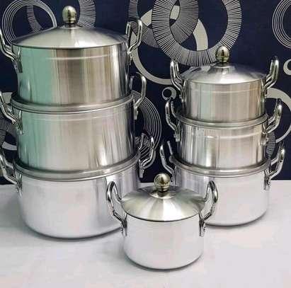 14 pcs aluminium cookware set image 1